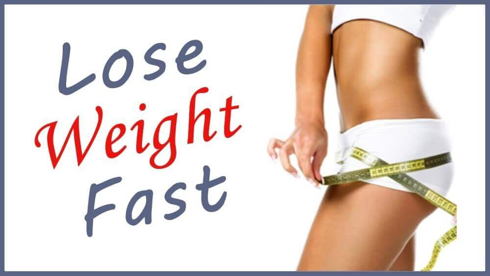 lose weight fast and a woman's body with a tape measurer