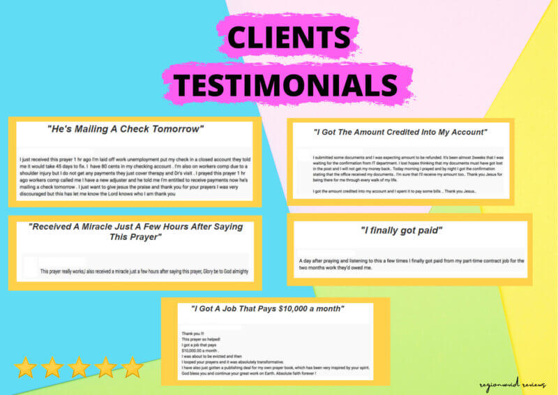 Urgent Money Miracle Review Clients Testimonials