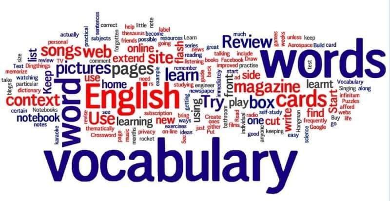 vocabulary and english learning