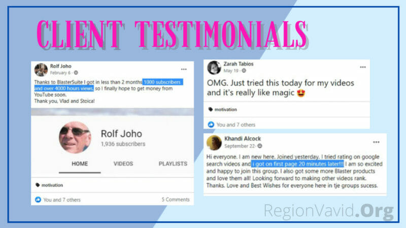 Videly Clients Testimonials