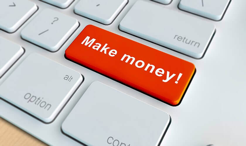 make money written on keyboard