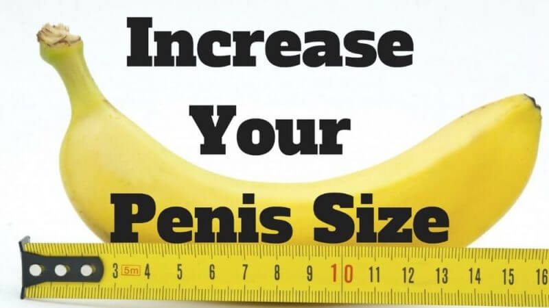 increase your penis size, blue ruler and a banana