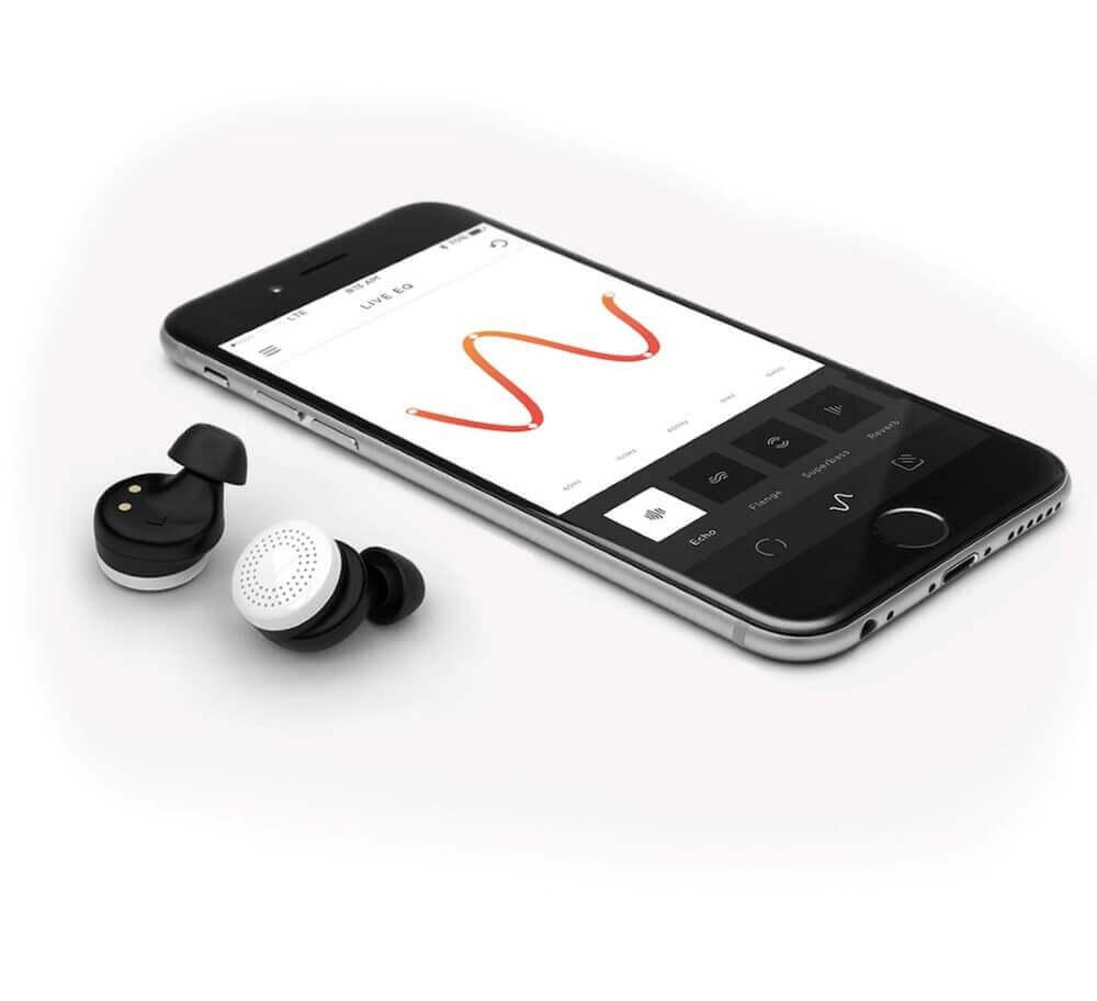 phone and earphones