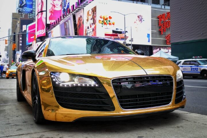 Overnight Millionaire System audi r8 gold color