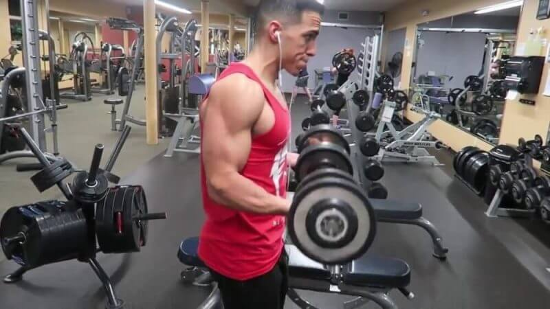 musculine working out