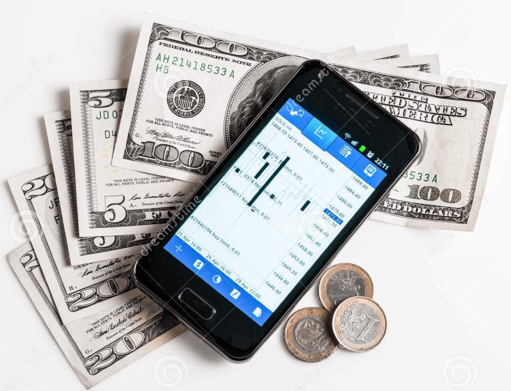 phone and money