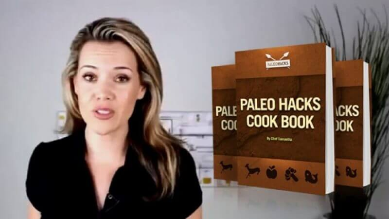 woman and paleohacks cookbook books