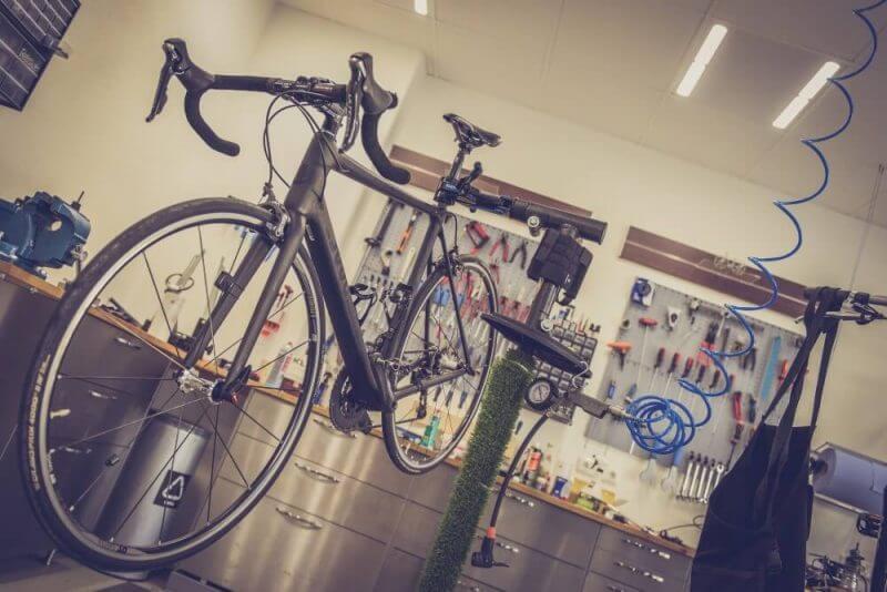 bike in a garage