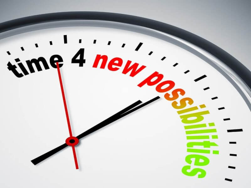 clock written time for new possibilities