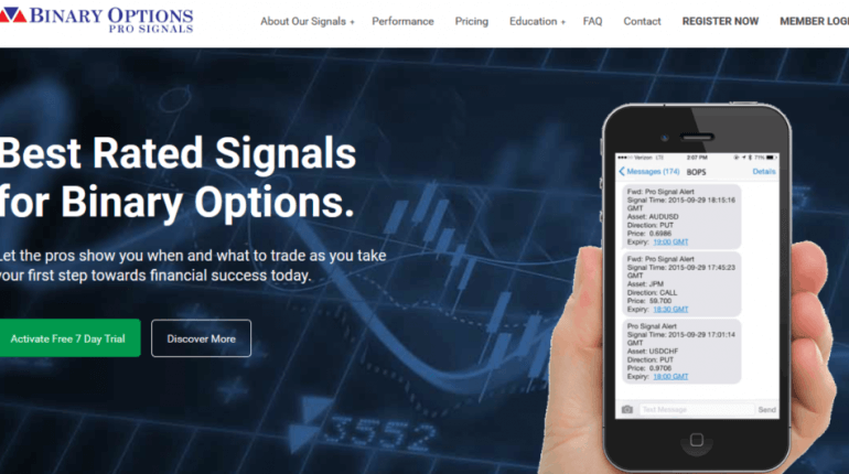 binary options pro signals testimonials examples