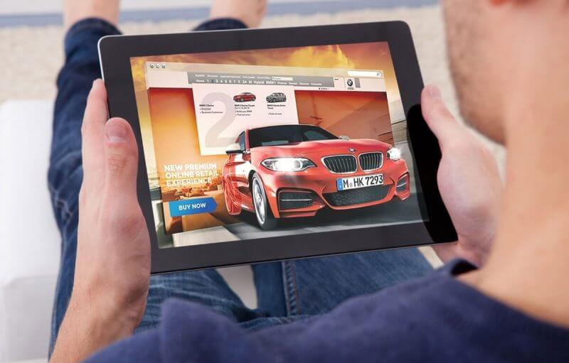 tablet and car