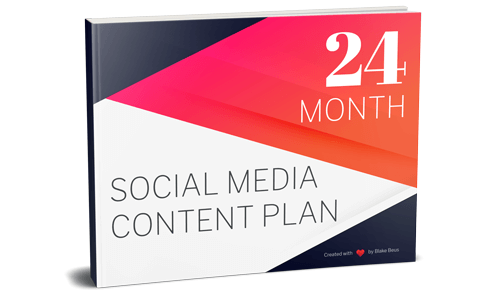 24 Month Social Media Content Plan