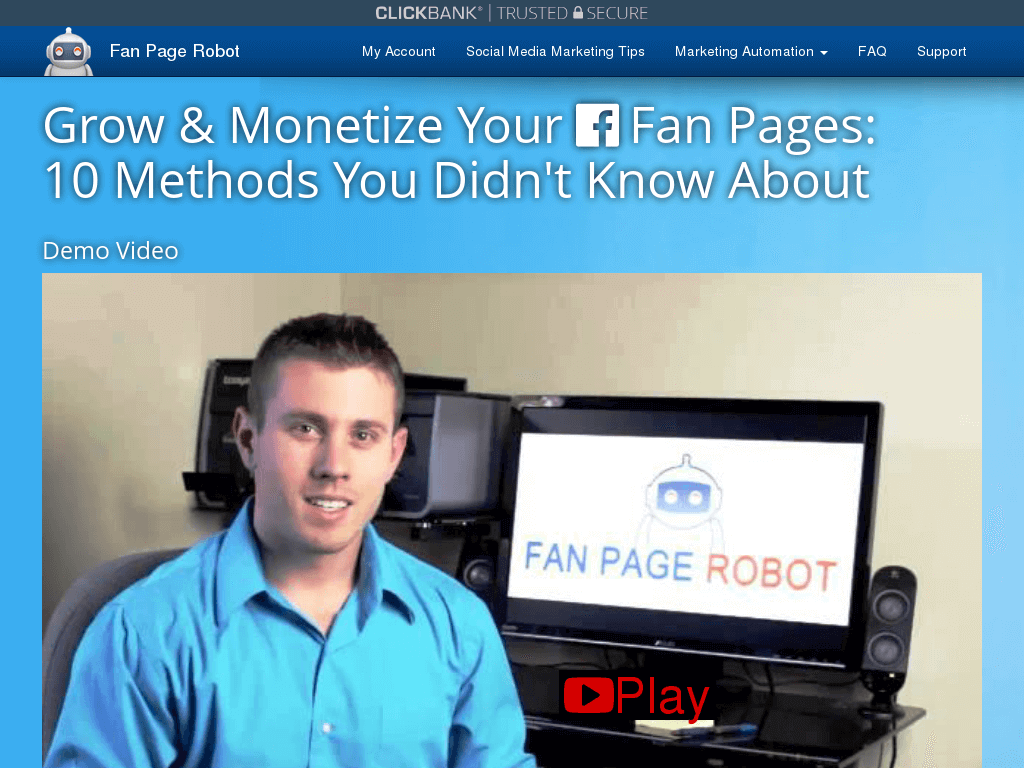 fan page robot review