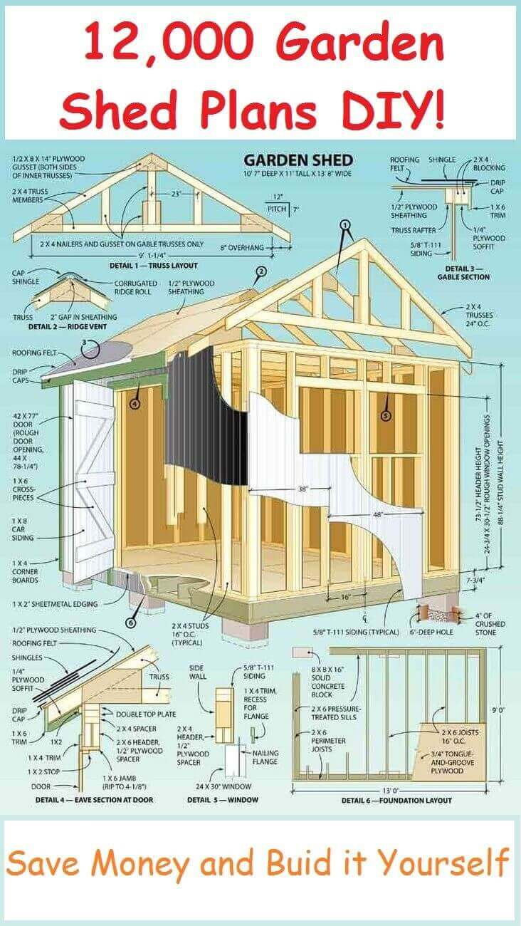 12000 garden shed plans