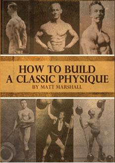 How To Build A Classic Physique