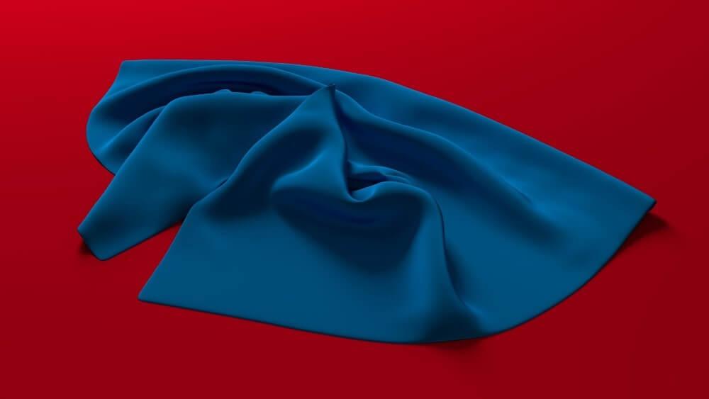soft blue towel