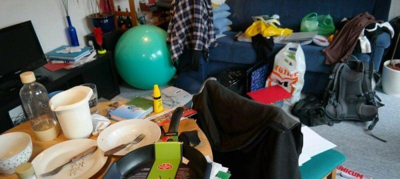 a disorganized home