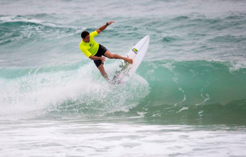 a man doing surf