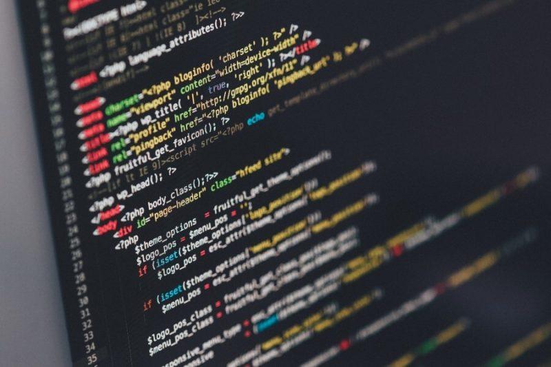 computer screen running a program