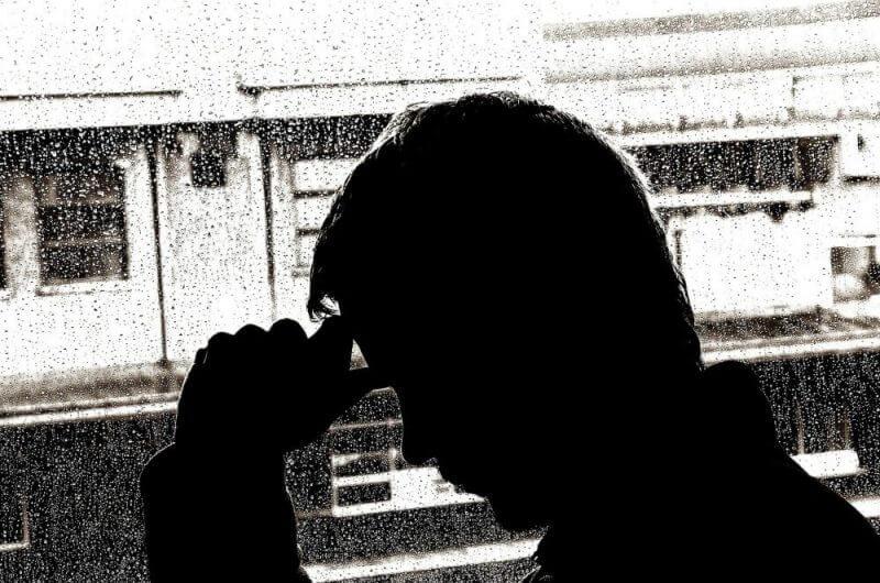 a man looking depressed
