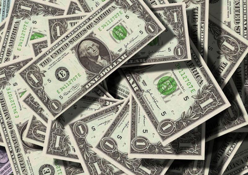 many dollar bills