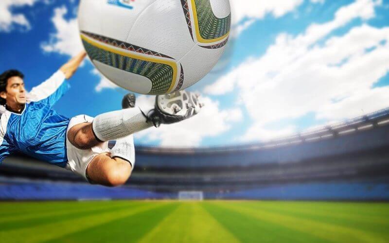 a player hitting ball