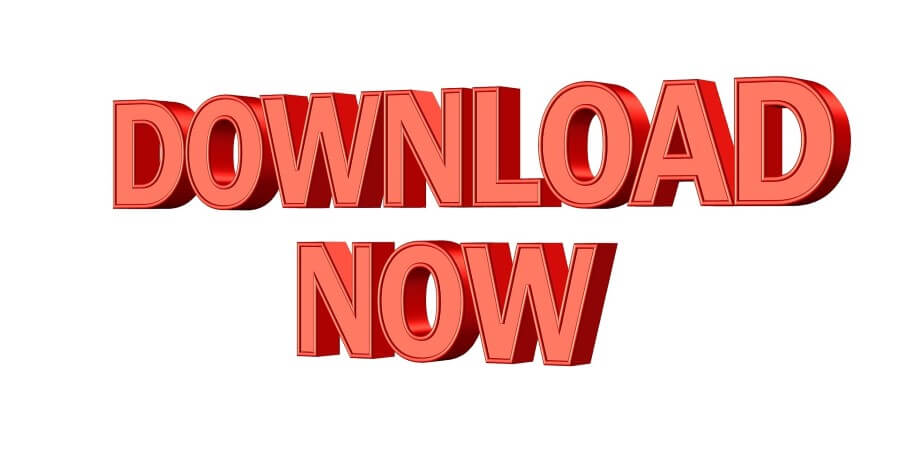 download now written on a white background