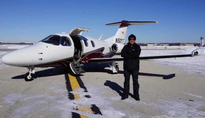 man beside a plane