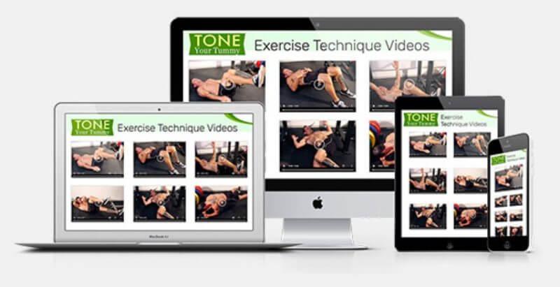 Tone Your Tummy exercise technique videos