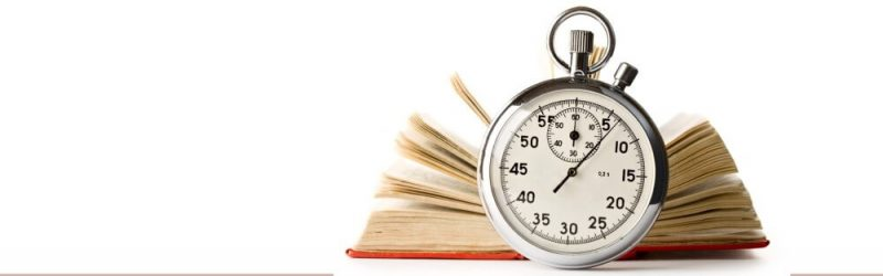 book and a clock