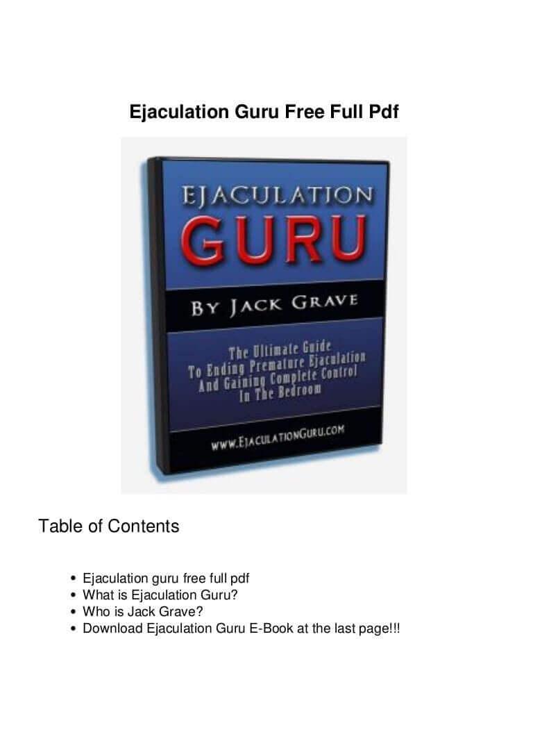 ejaculation guru pdf