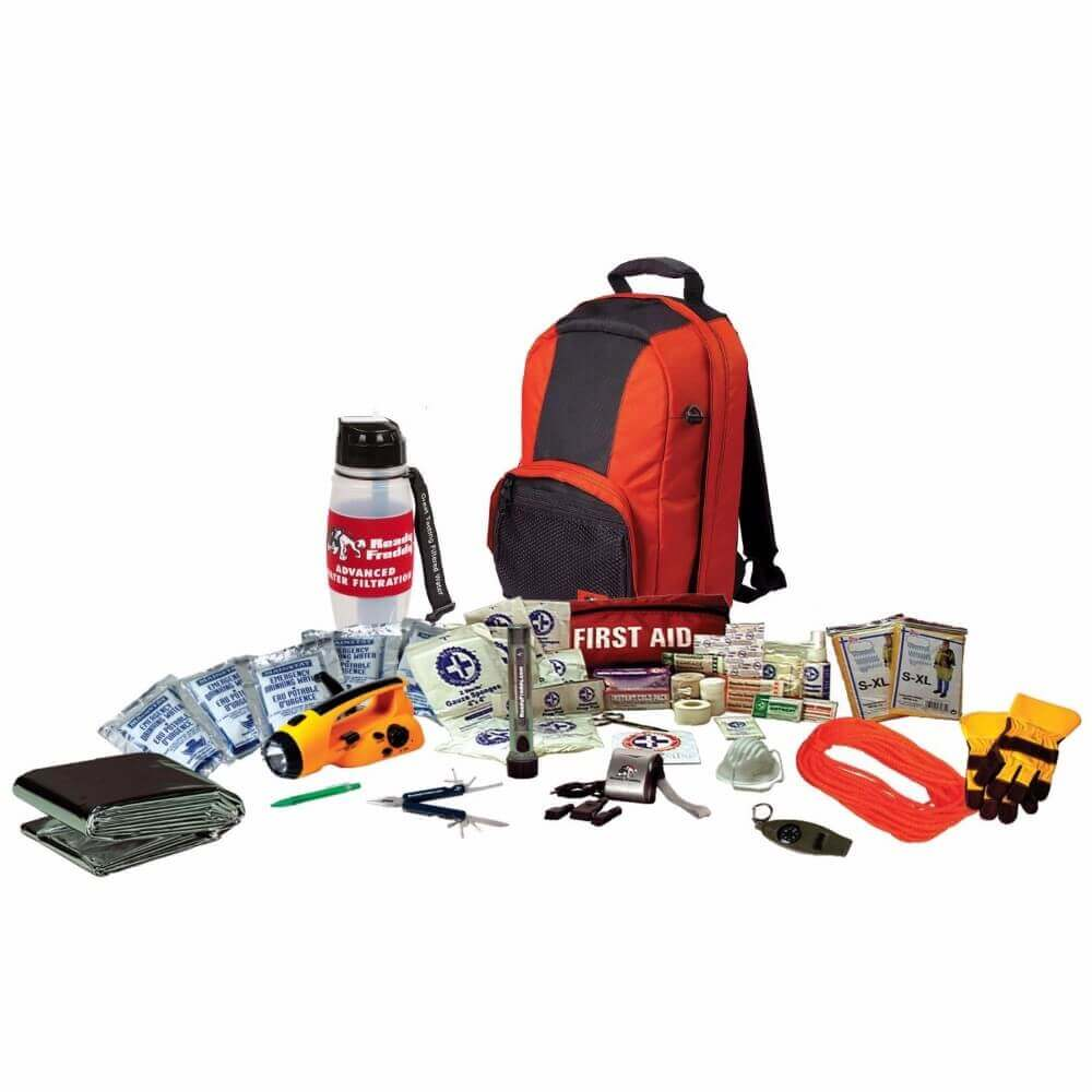 emergency backpack and medical supplies