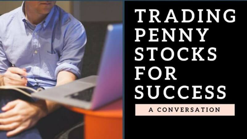 a man trading penny stock on his laptop