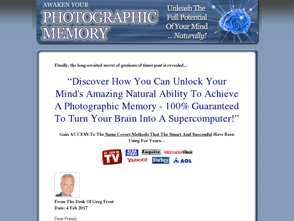 Awaken Your Photographic Memory Review – Is It Worth It?