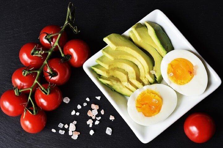 Keto VIP Club represented by healthy food