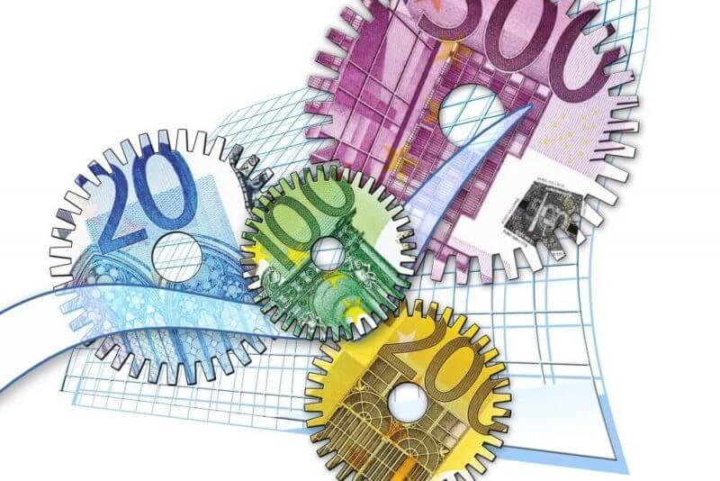 money looking gears