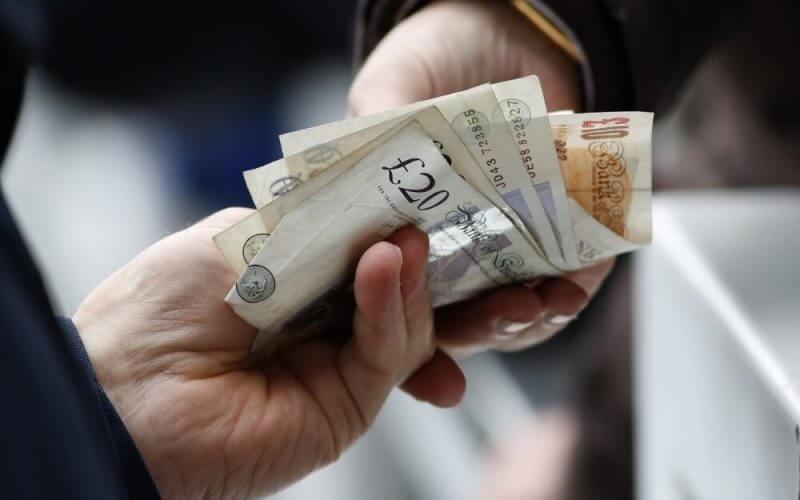 somone receiving cash