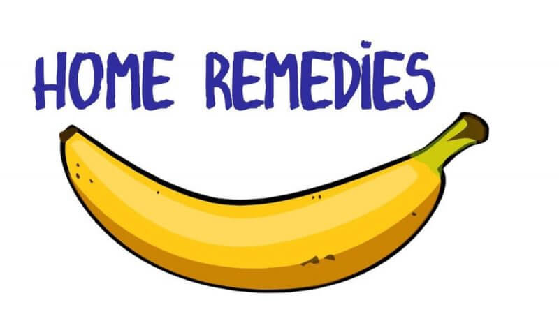 home remedies and a banana