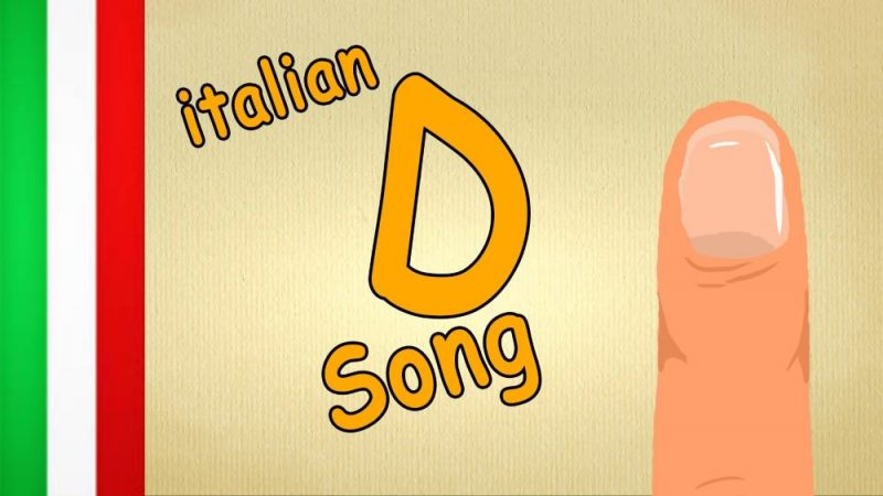 italian song, a D in the middle and a finger on the side