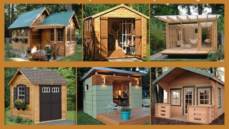 different constructed wood structures