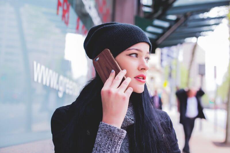 women on mobile