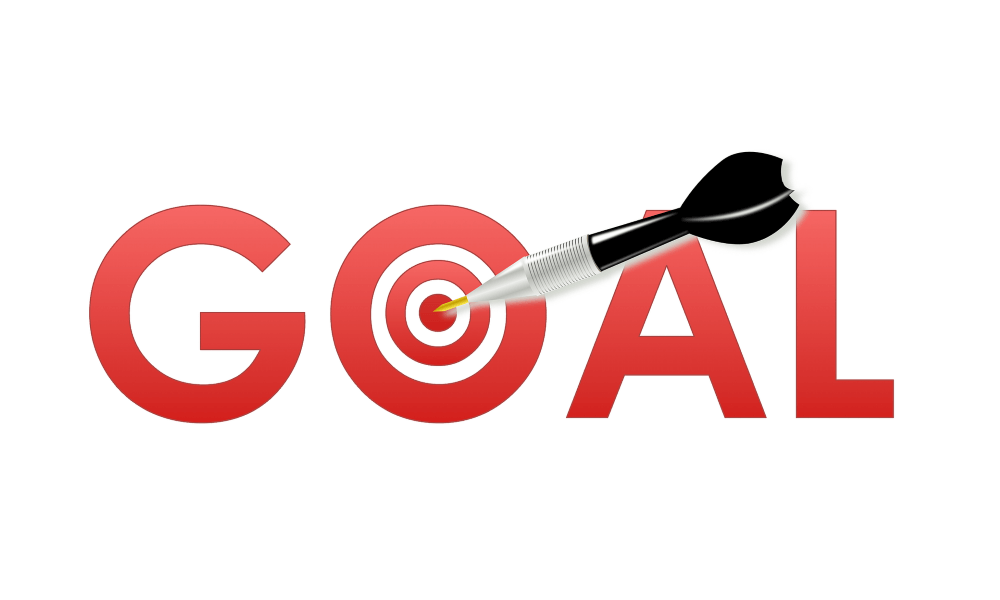 word goal in red
