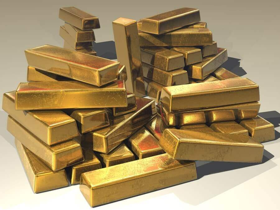 a hipe of gold bars