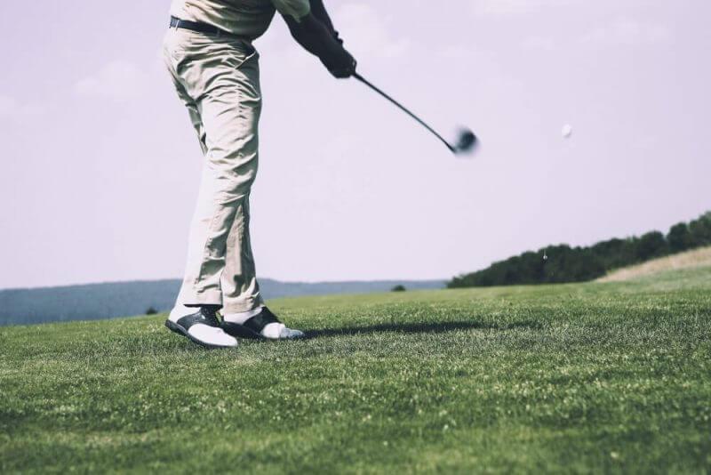 a golf ball being hit