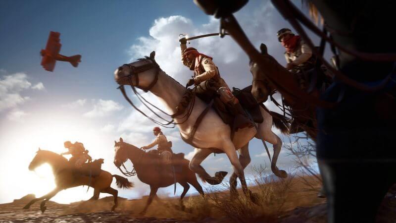 swordsmen on horses