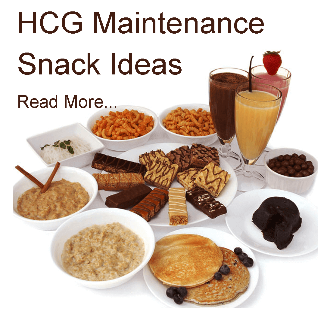 hcg maintenance snack ideas