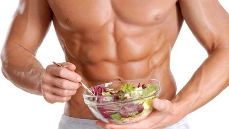 musculine guy eating