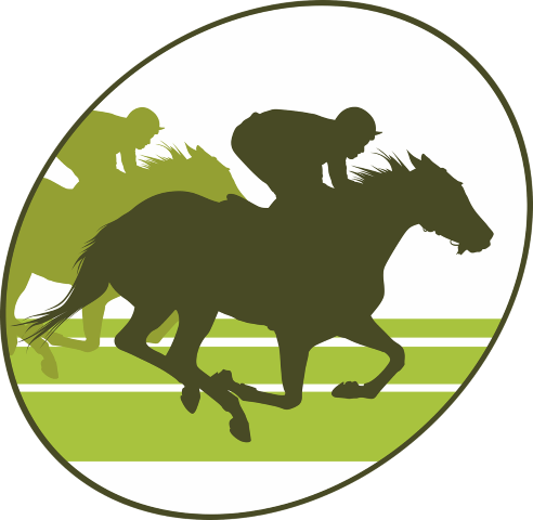 horse race predictor represented by a green racing logo