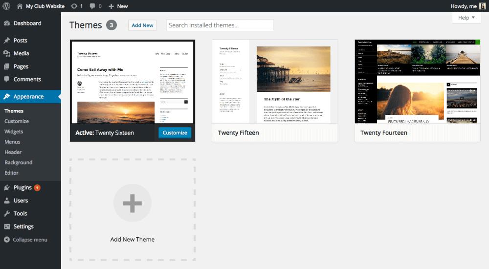 wordpress web page