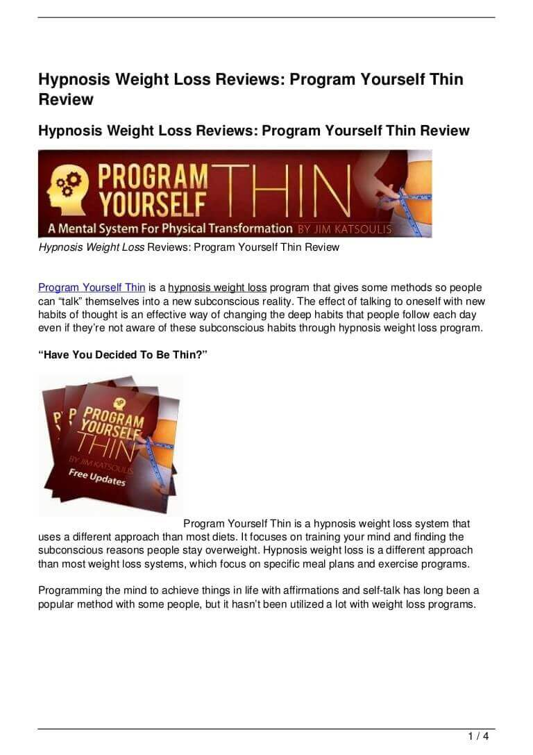 program yourself thin review